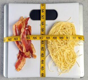 Bacon vs. Pasta? Easy. Bacon by unanimous decision